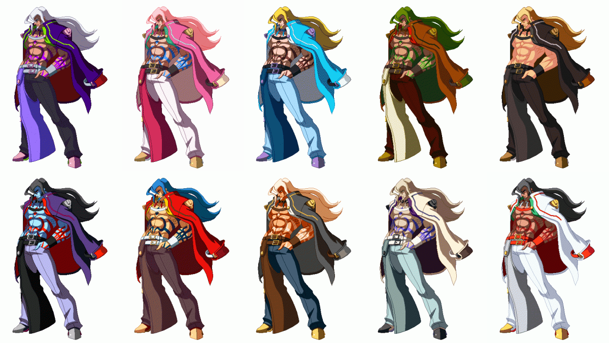 Guilty Gear Xrd: -Sign- - Extra Color Palettes: Axl Low 2015 pc game Img-2